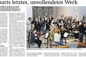 ZSZ: «Mozarts letztes, unvollendetes Werk»